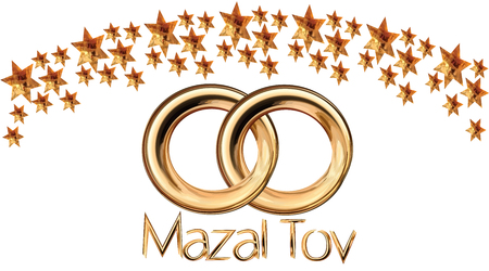 A Judasist with gold rings  isolated on plain background.