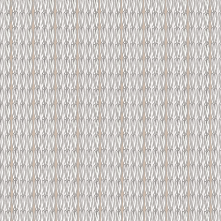 decor pattern of threads imitation knitted sweater, scarf on a beige background vector