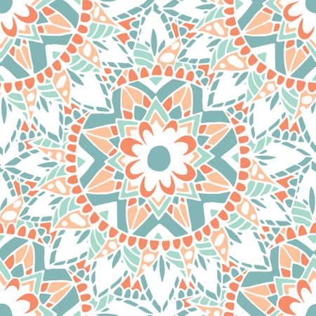 Flower mandala patroon