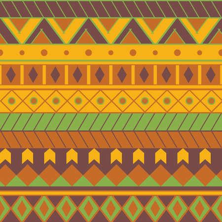 Seamless colorful aztec pattern Illustration