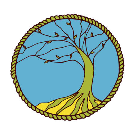 celtic background: Tree of life in vector. Poster on white background Illustration
