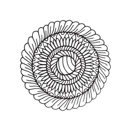 Creative mandala for coloring book and adults. Illustration