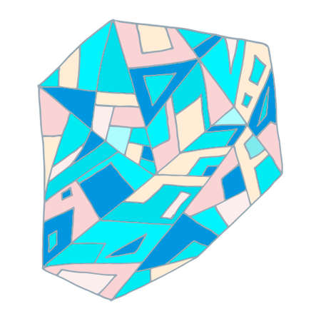 diamond shaped: blue graphic abstract illustration in vector