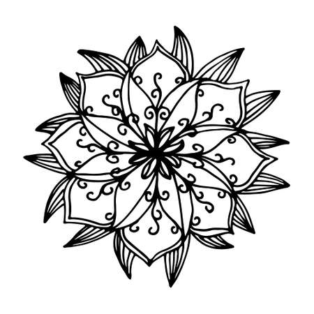 intricacy: Indian flower mandala in vector Illustration