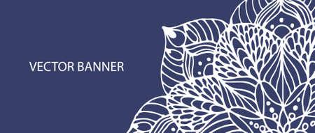 Mandala bloem op vector banner