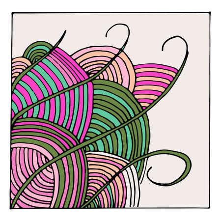 Vector colorful zentangle