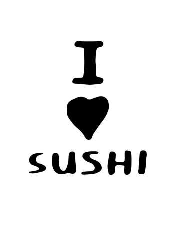 nori: hand-drawn Doodle sushi in vector - for menu, poster and other Illustration