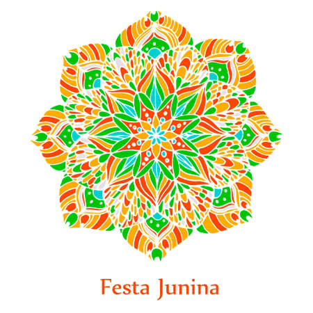 Background with mandala for the June party of Brazil