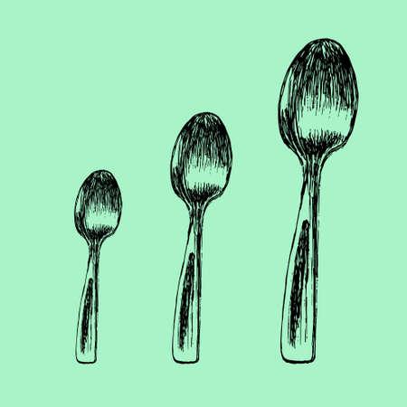 Hand drawn spoon