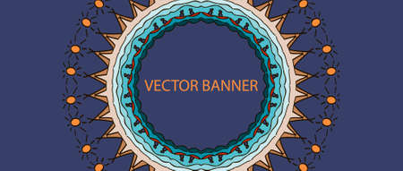 Banner with mandala design for South Indian festival Onam