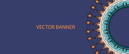 pookolam: Banner with mandala design for South Indian festival Onam