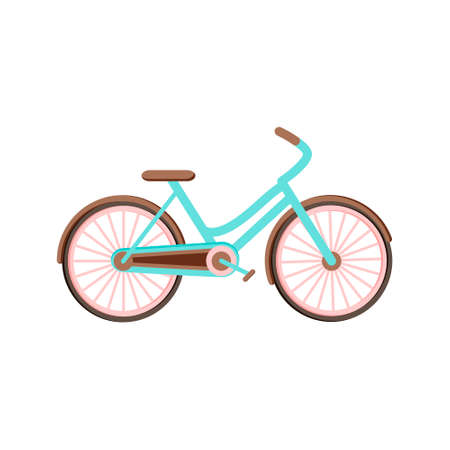 Romantic bicycle in vector