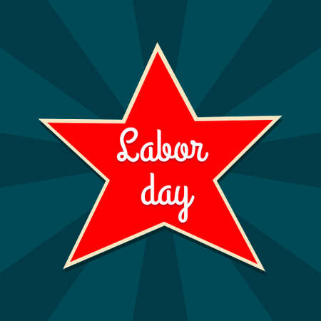 Labor day poster in vector. Illustration