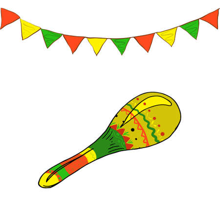 Pattern with colored flags for the June party of Brazil