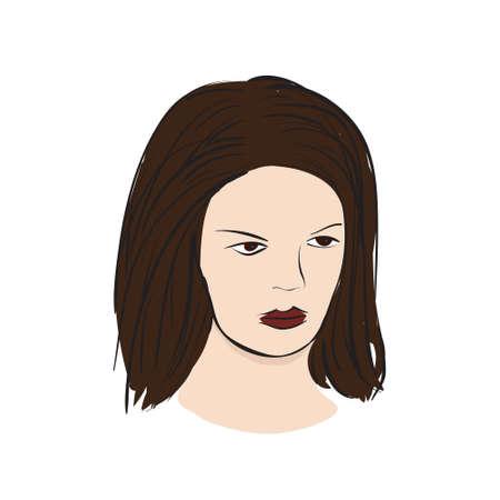 supermodel: Face of supermodel in vector