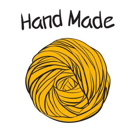 Yarn ball in doodle style Иллюстрация