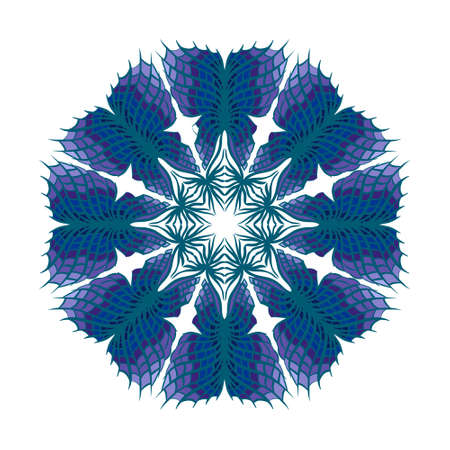 Hand drawn flower mandala for cards, invitations and other. Coloring book