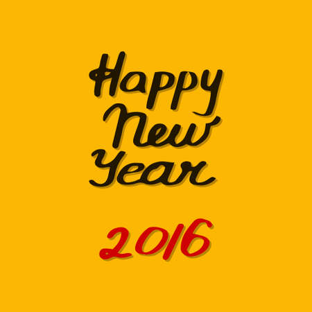 happy new year text: Happy new year card. Vector illustration