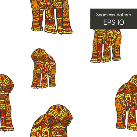 auspicious: Seamless pattern with elephant for cards, invitations and other
