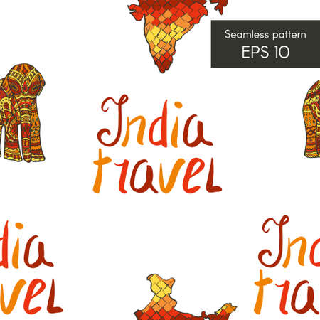 Seamless pattern with elephant for cards, invitations and other