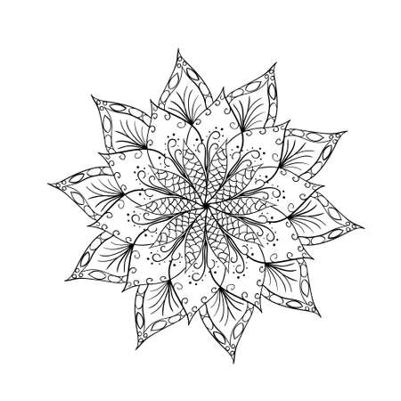 intricacy: Hand drawn flower mandala for cards, invitations and other