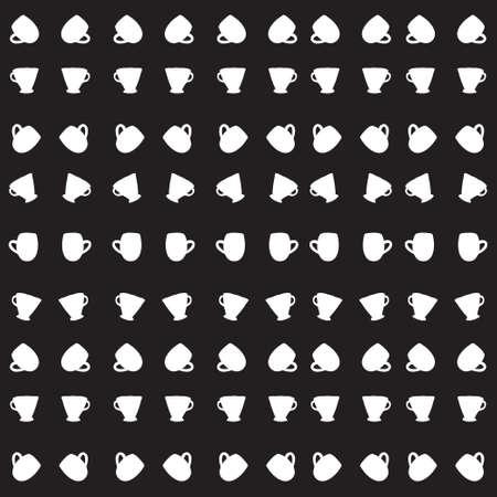 five o'clock: Tea cup pattern. Vector background. Vector illustration
