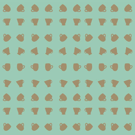 o'clock: Tea cup pattern.  background.  illustration