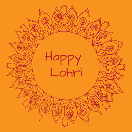 Happy Lohri pattern. Perfect for web, blog, textile, prints and other