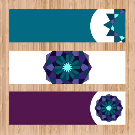Sacred geometry pattern in . Banners with arabic pattern