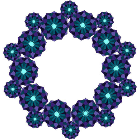 Sacred geometry pattern in . Arabic pattern frame