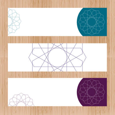 Sacred geometry banner in . Arabic pattern background