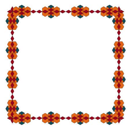 Sacred geometry pattern in arabic pattern background. Illustration