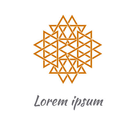 Abstract logo design.  illustration. Perfect for web Illustration
