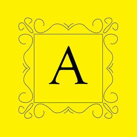 Monogram in . Perfect for cards, web, banner. Letter A Illustration