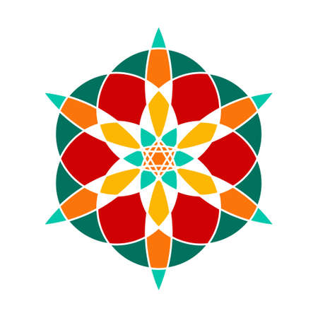 Sacred geometry pattern in . Arabic pattern.