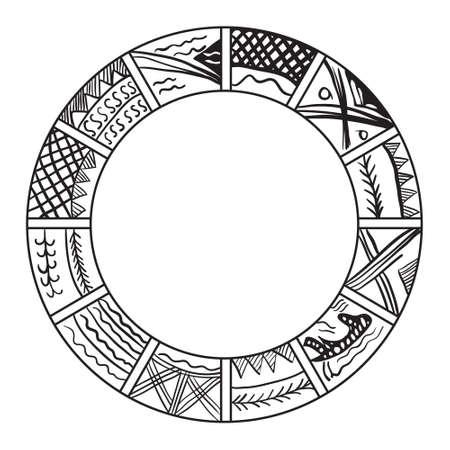 Old slavian calendar. ilustration. Year calendar Vektorové ilustrace