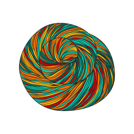 Balls of yarn for knitting.  illustration Illustration