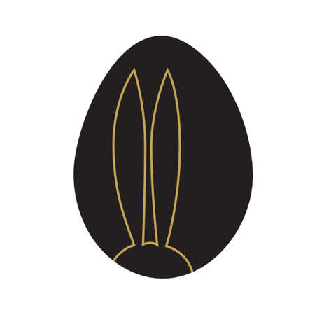 Easter eggs isolated.  illustration. Happy easter background Illustration