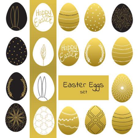 eastertide: Easter eggs set.  illustration.