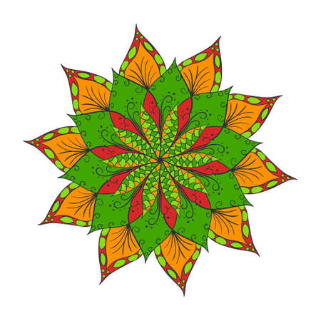 Hand drawn flower mandala for cards, invitations and other