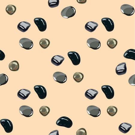 Stones seamless pattern in . Ilustrace