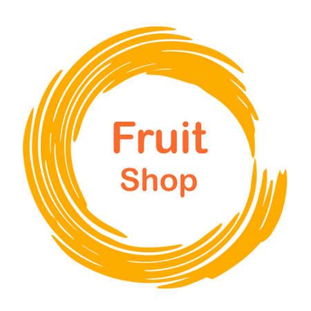 simple store: Creative logo for  fruit shop.  illustration. Isolated on white background.