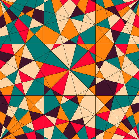 Abstract pattern with triangles in .