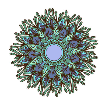 dcor: Flower mandala for cards, prints, textile and coloring books.