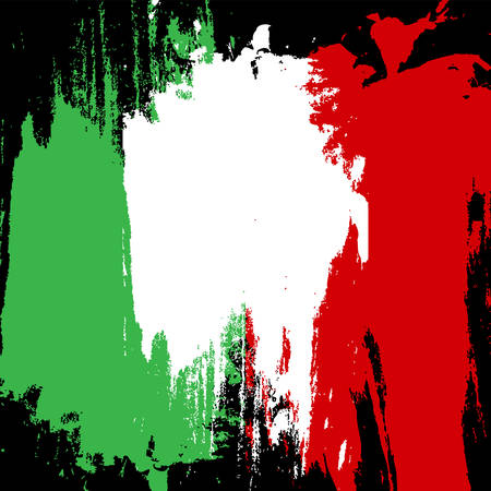 Concept  pattern with splashes. Flag of Italy. Perfect for web, background, football banner. Illustration