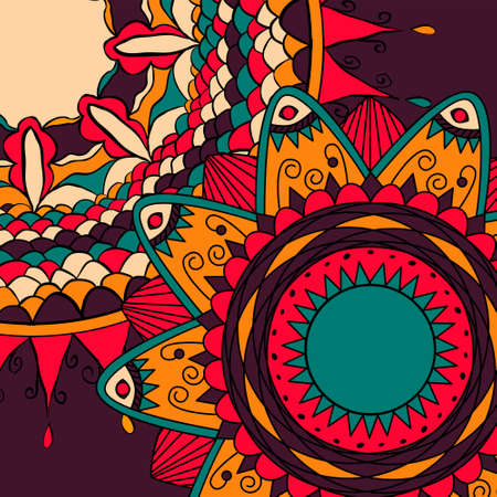 dcor: Flower mandala backgrounds for cards, prints, textile and coloring books. Illustration
