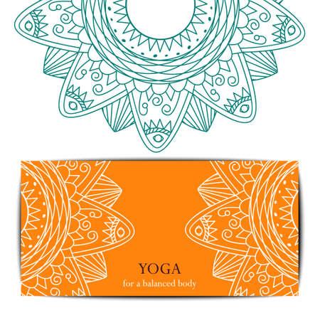 stretchy: Gift card template for yoga studio or yoga class. Yoga retreat.  editable template