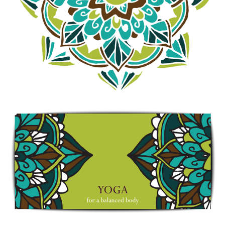 Gift card template for studio or class yoga retreat.  editable pattern
