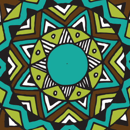 coaster: Flower mandala tile -  pattern. Perfect for web, textile.