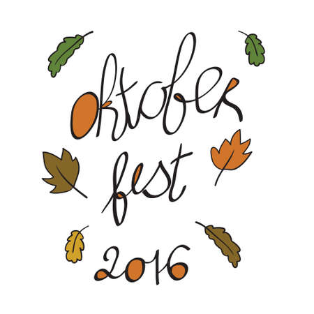 oktoberfest festival pattern in . Lettering for your design